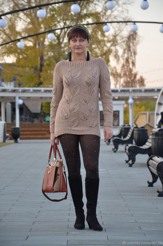 Sweatshirts: knitted sweater Leaves, Sweater Jackets, Gurevsk,  Фото №1