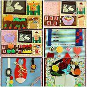Куклы и игрушки ручной работы. Ярмарка Мастеров - ручная работа Развивающая книжка (странички). Handmade.
