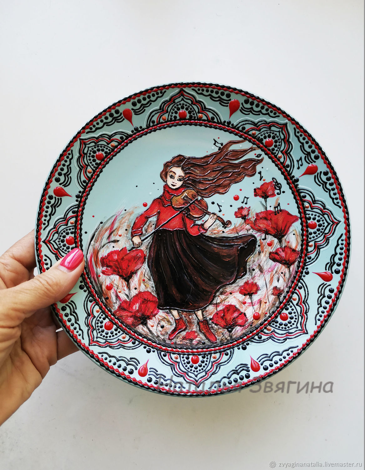 The interior plate Maki. Hand painted. Gift, Plates, Ekaterinburg,  Фото №1