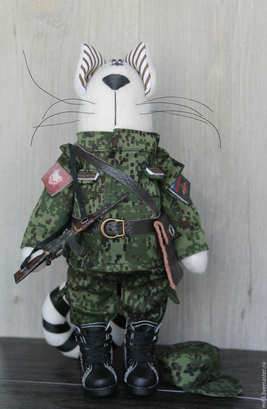 Игрушки животные, ручной работы. Ярмарка Мастеров - ручная работа. Купить Кот. Кот военный. Handmade. Хаки, интерьерная игрушка