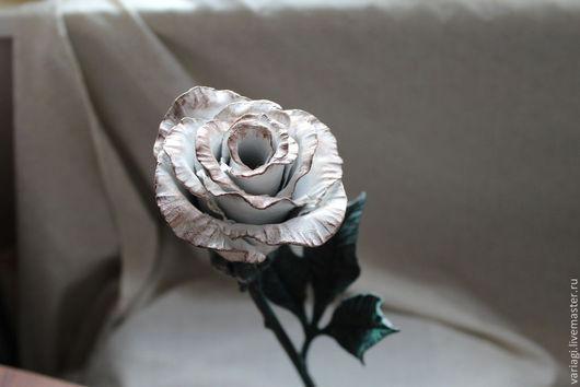 Подарки для влюбленных ручной работы. Ярмарка Мастеров - ручная работа. Купить Кованая роза. Handmade. Чёрно-белый, кованая роза