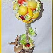 """Цветы и флористика ручной работы. Ярмарка Мастеров - ручная работа Топиарий """"Персик и банан"""". Handmade."""