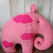 """Куклы и игрушки ручной работы. Ярмарка Мастеров - ручная работа Игрушка -подушка `Слон"""". Handmade."""
