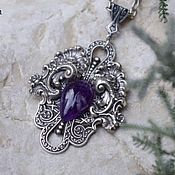 Украшения handmade. Livemaster - original item Pendant pendant silver viola Purple amethyst. Handmade.