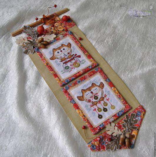 Животные ручной работы. Ярмарка Мастеров - ручная работа. Купить Совы в сетях. Handmade. Птицы, оберег, канва, шармики
