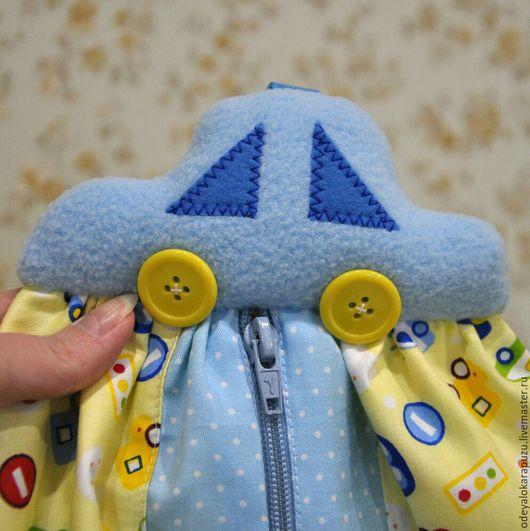 Детская ручной работы. Ярмарка Мастеров - ручная работа. Купить Пижамница Машинка. Текстиль в детскую. Handmade. Пижамница, пижама