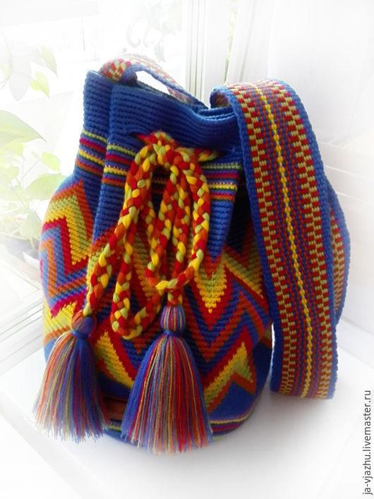Женские сумки ручной работы. Ярмарка Мастеров - ручная работа. Купить Колумбийская сумка Mochila (Мочила) - 12. Handmade. Комбинированный