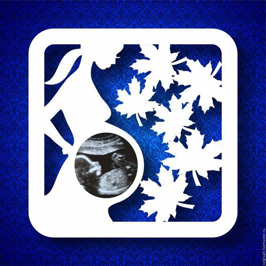"""Фоторамки ручной работы. Ярмарка Мастеров - ручная работа. Купить Рамка для УЗИ снимка малыша """"Осень"""". Handmade. Комбинированный, фотография"""