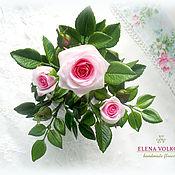 """Цветы и флористика ручной работы. Ярмарка Мастеров - ручная работа Кустовая миниатюрная роза из полимерной глины """"Нежность!"""". Handmade."""