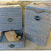"""Для дома и интерьера ручной работы. Ярмарка Мастеров - ручная работа Набор корзин для ванной """"Монтерано"""". Handmade."""