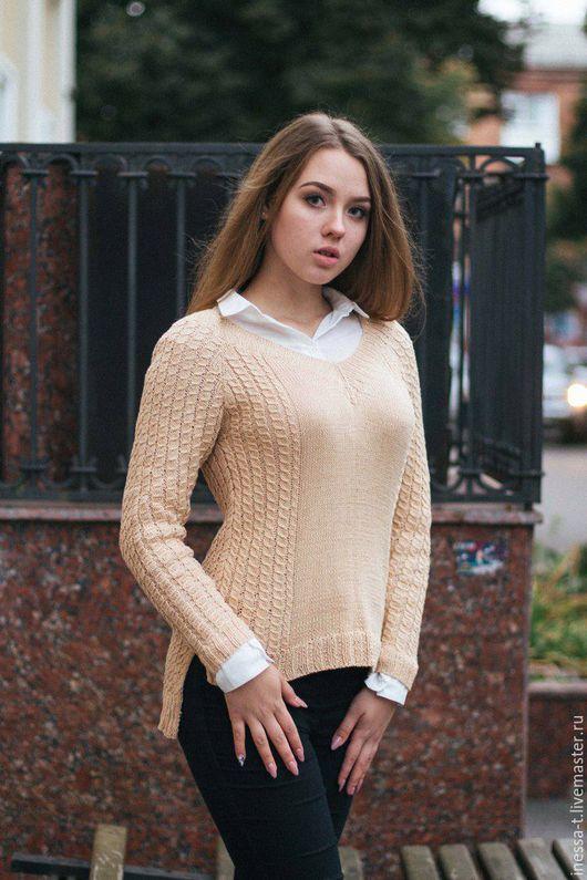 Inessa_T Вяжу с любовью Вязаный пуловер Нюд