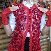 Одежда ручной работы. Ярмарка Мастеров - ручная работа Ажурный жакет. Handmade.