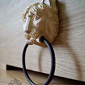 Для дома и интерьера handmade. Livemaster - original item Sculpture Door knocker lion decorative. Handmade.