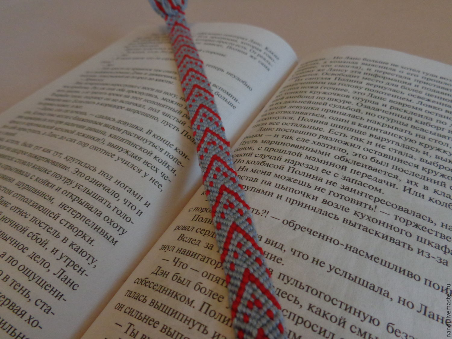 Bookmark in the book 'Red on gray', Bookmark, Ryazan,  Фото №1