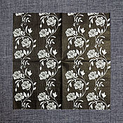 Материалы для творчества ручной работы. Ярмарка Мастеров - ручная работа СФ-485417. Салфетка для декупажа Розы на черном. Handmade.