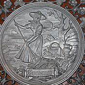 Винтаж handmade. Livemaster - original item Tin panel on the wall in an openwork frame
