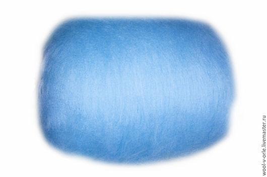 """Валяние ручной работы. Ярмарка Мастеров - ручная работа. Купить Кардочёс стойкого окрашивания.  Цвет """"Светло-голубой"""",29-32 мкм. Handmade."""