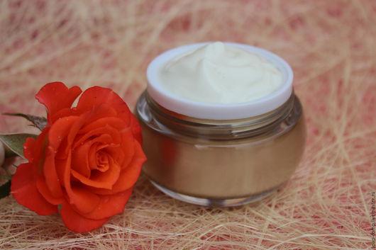 """Крем, гель, сыворотка ручной работы. Ярмарка Мастеров - ручная работа. Купить """"Чувственная Роза"""" крем для лица. Handmade. Белый"""