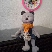 Куклы и игрушки ручной работы. Ярмарка Мастеров - ручная работа Флисовый кот. Handmade.