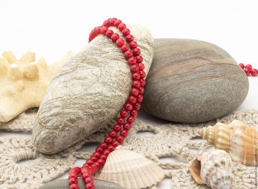 Для украшений ручной работы. Ярмарка Мастеров - ручная работа. Купить Коралл красный шар 3.5мм - арт.6-08. Handmade.