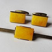 Винтаж handmade. Livemaster - original item Jewelry set: cuff links and clip. Handmade.
