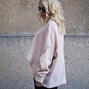 Одежда ручной работы. Ярмарка Мастеров - ручная работа Розовый асимметричный свитер  / Свитер из трикотажа/F1660. Handmade.