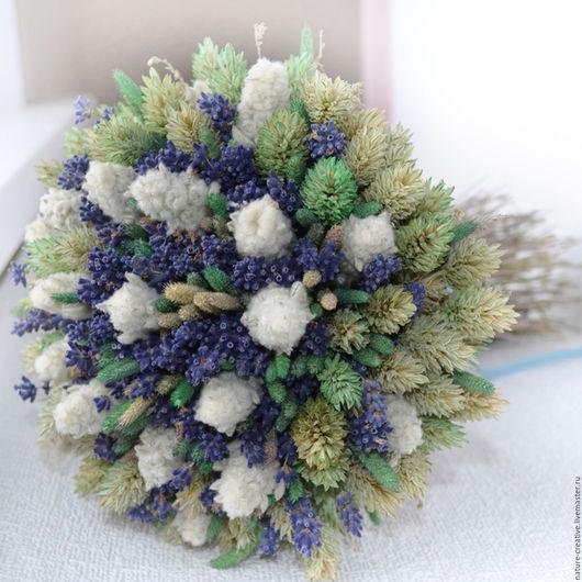 Букеты ручной работы. Ярмарка Мастеров - ручная работа. Купить «Мятная прохлада» букет из сухоцветов. Handmade. В эко стиле