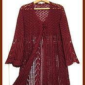 Одежда ручной работы. Ярмарка Мастеров - ручная работа кардиган бордовый колосок. Handmade.