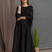 Одежда handmade. Livemaster - original item Black MIDI dress. Handmade.