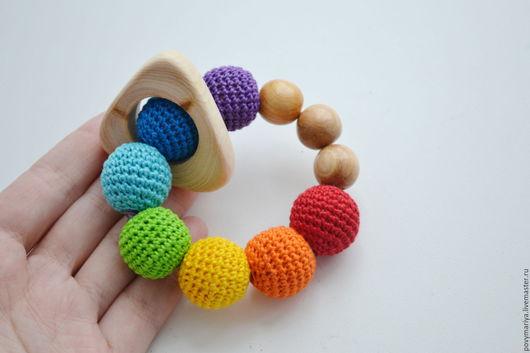 """Развивающие игрушки ручной работы. Ярмарка Мастеров - ручная работа. Купить Грызунок """"Шалтай"""". Handmade. Комбинированный, игрушка для детей, грызунок"""