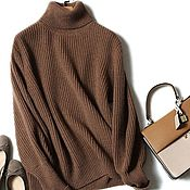 Одежда handmade. Livemaster - original item Sweater knitting English elastic band, cashmere 100%. Handmade.