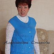 """Одежда ручной работы. Ярмарка Мастеров - ручная работа Жилет женский вязаный """"Уютненький"""" спицами. Handmade."""