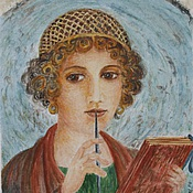 Картины и панно handmade. Livemaster - original item The incomparable Sappho, Ancient Greece, female portrait, watercolour. Handmade.