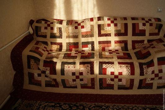 Текстиль, ковры ручной работы. Ярмарка Мастеров - ручная работа. Купить Одеяло лоскутное. Handmade. Бордовый, печворк одеяло