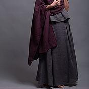 Юбки ручной работы. Ярмарка Мастеров - ручная работа Льняная юбка INDI - 31 расцветка. Handmade.