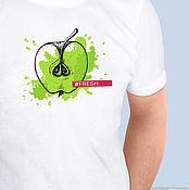 Мужская одежда handmade. Livemaster - original item Men`s t-shirt Juicy Apple. Handmade.