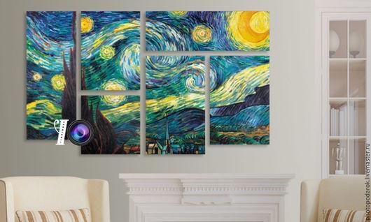 """Репродукции ручной работы. Ярмарка Мастеров - ручная работа. Купить """"Мир Ван Гога"""". Handmade. Комбинированный, картина, Картины и панно"""