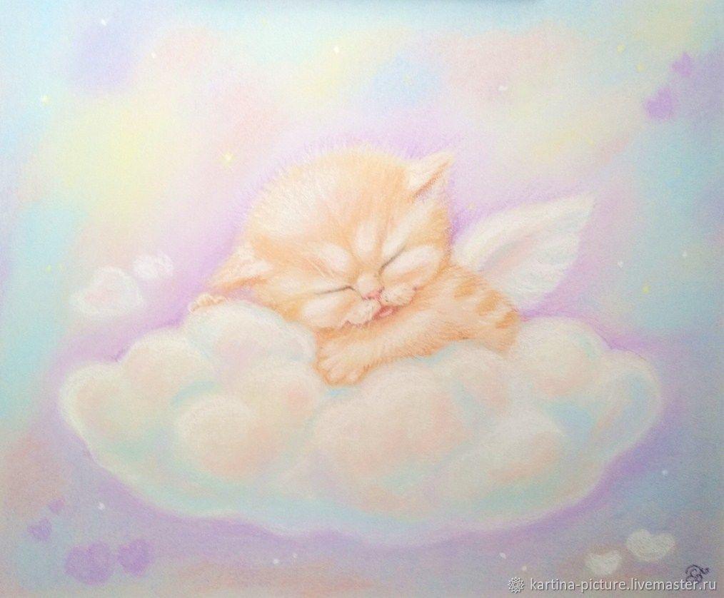 Pattern Gentle dreams baby kitten angel, Pictures, Samara,  Фото №1