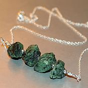 Украшения handmade. Livemaster - original item Necklace ruby in zoisite natural ruby fuchsite natural №1. Handmade.