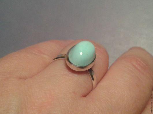 Кольца ручной работы. Ярмарка Мастеров - ручная работа. Купить кольцо с природной казахской бирюзой. Handmade. Голубой, бирюза кабошон