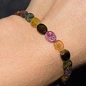 handmade. Livemaster - original item Natural Tourmaline Bracelet. Handmade.