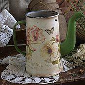 """Посуда ручной работы. Ярмарка Мастеров - ручная работа Интерьерный кофейник """"Французский шарм""""в стиле винтаж. Handmade."""