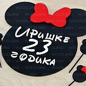 """Подарки к праздникам ручной работы. Ярмарка Мастеров - ручная работа Композиция """"С днем рождения Микки"""". Handmade."""