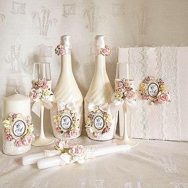 Свадебный салон ручной работы. Ярмарка Мастеров - ручная работа Свадебный набор «Цветочная ваниль». Handmade.