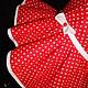 Блузки ручной работы. Заказать Рубашка с асимметричной баской красная в горошек. Евгения Панина-Крамская. Ярмарка Мастеров. Лето