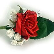 """Свадебный салон ручной работы. Ярмарка Мастеров - ручная работа Бутоньерка """"Роза. Handmade."""