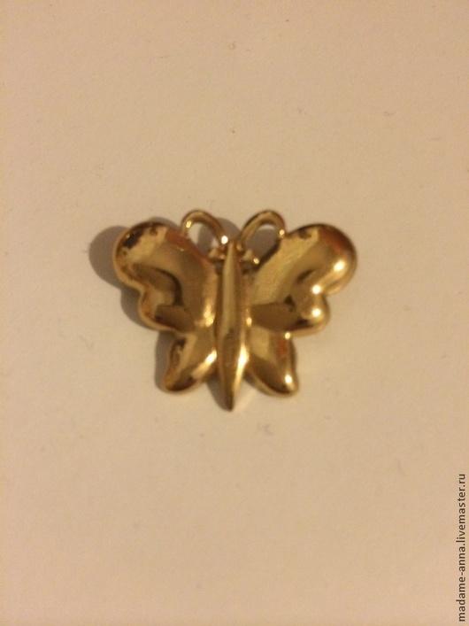 """Винтажные украшения. Ярмарка Мастеров - ручная работа. Купить Monet Винтажная брошь """"Золотая бабочка"""" (США), 80-е годы. Handmade."""