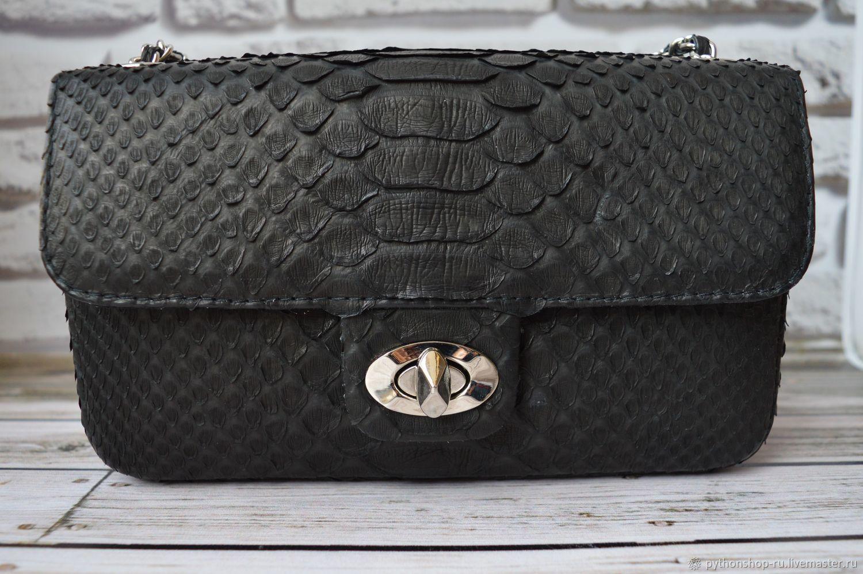 77d59fb8a918 Купить Клатч Шанель из кожи Женские сумки ручной работы. Клатч Шанель из  кожи питона. Pythonshop.