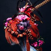 Сувениры и подарки ручной работы. Ярмарка Мастеров - ручная работа Цветы и Перья 1. Handmade.