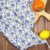 """Полотенца ручной работы. Ярмарка Мастеров - ручная работа Льняное кухонное полотенце """"Цветы"""". Handmade."""